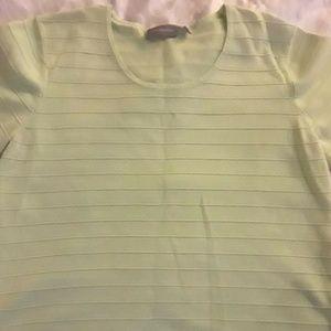 Croft & Barrow Light Green Sweater XL Short Sleeve